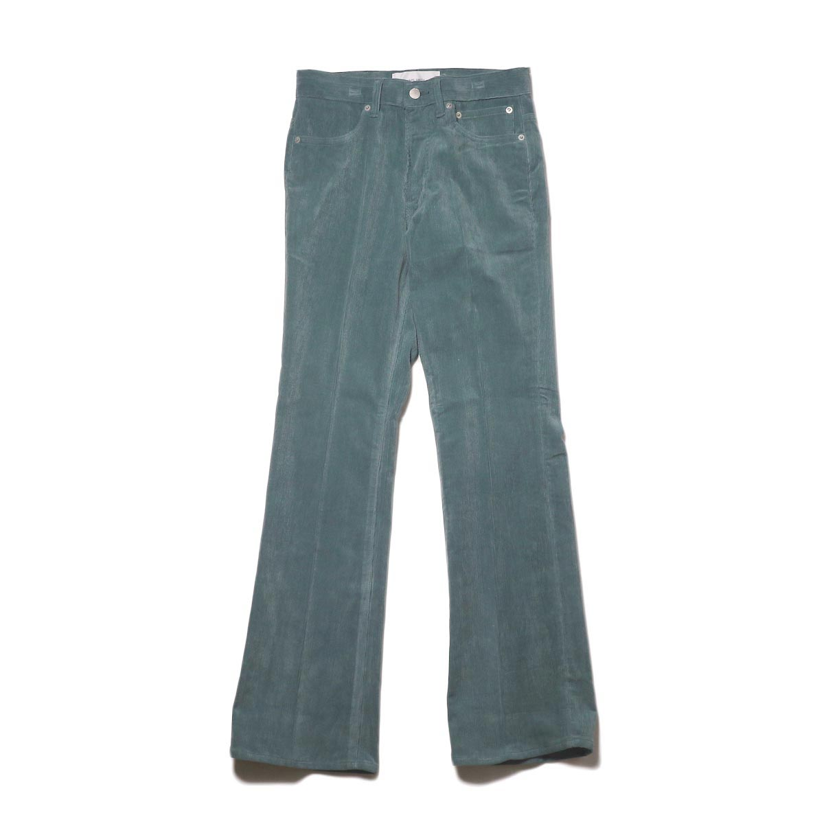 JANE SMITH / 5POCKET BOOTSCUT (jade green) 正面