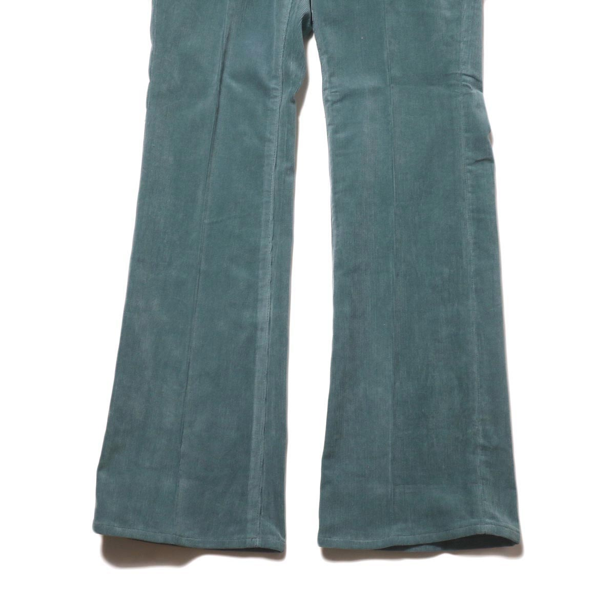 JANE SMITH / 5POCKET BOOTSCUT (jade green) 裾