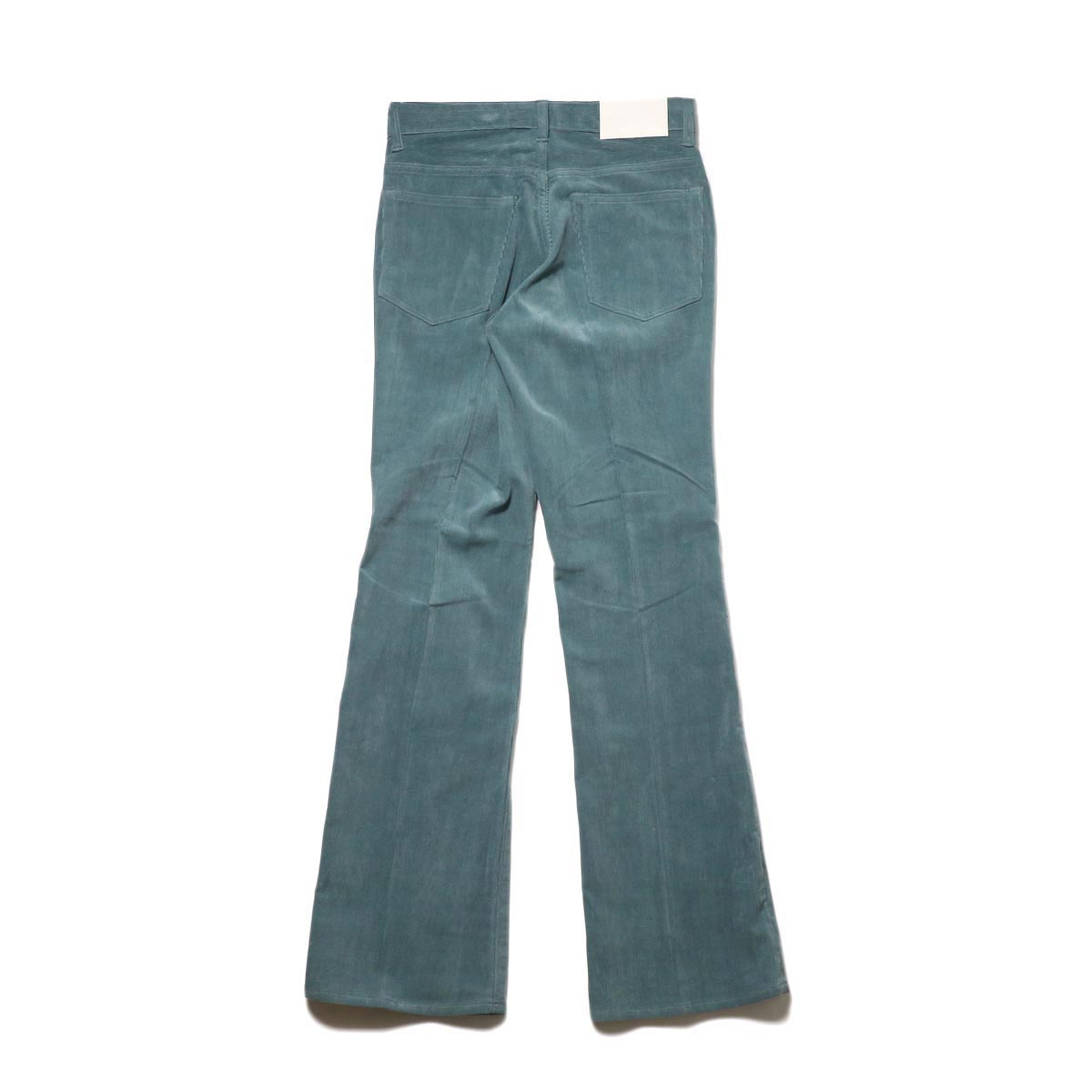 JANE SMITH / 5POCKET BOOTSCUT (jade green) 背面
