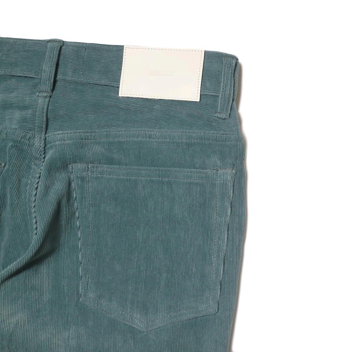 JANE SMITH / 5POCKET BOOTSCUT (jade green) 背面ポケット