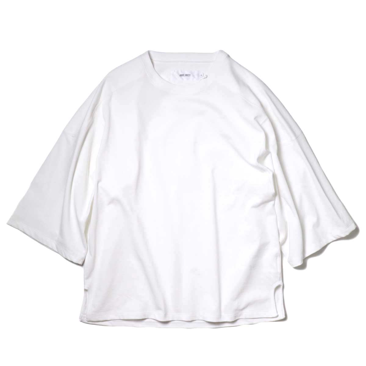 JANE SMITH / CLASSIC FOOTBALL T-SHIRT (White) 正面