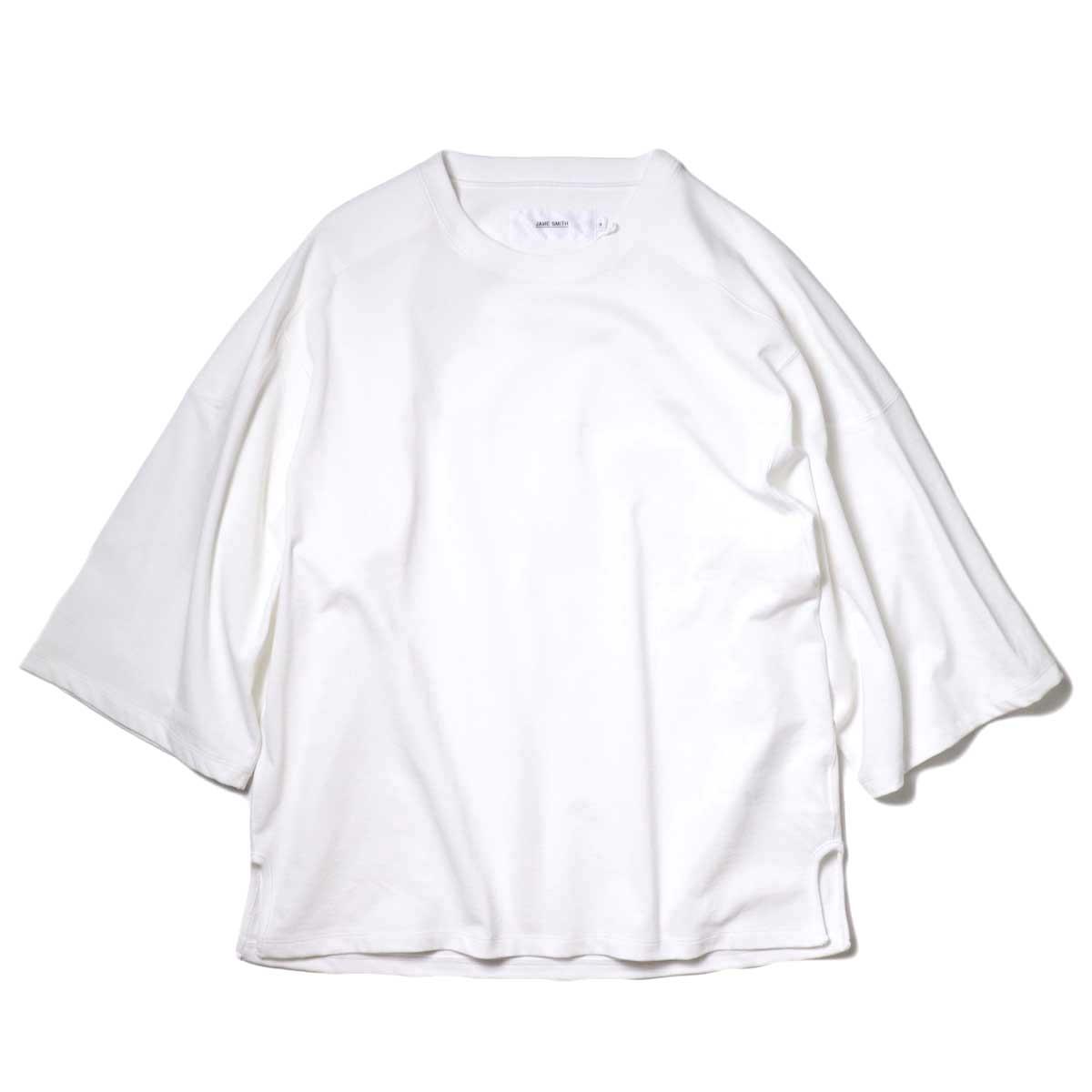 JANE SMITH / CLASSIC FOOTBALL T-SHIRT (White)