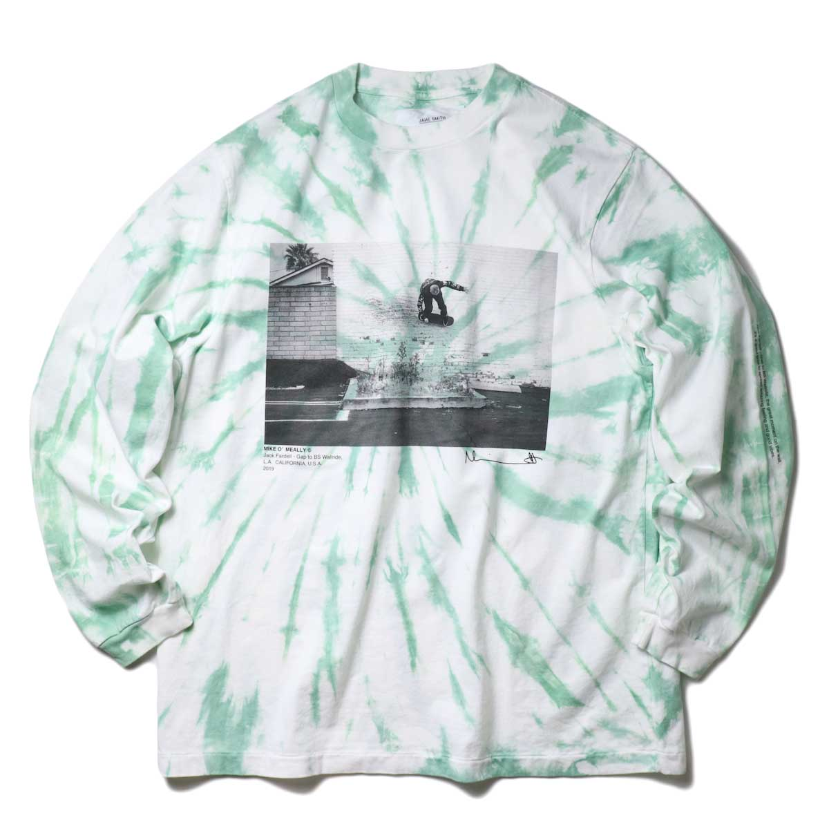 JANE SMITH / JACK FARDELL WALL RIDE L/S T-SHIRT (Green)