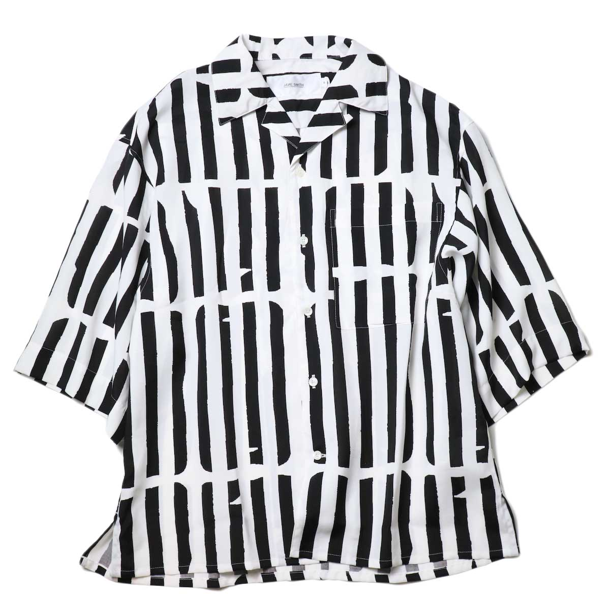 JANE SMITH / OPEN COLLAR SHIRTS S/S (White Black)