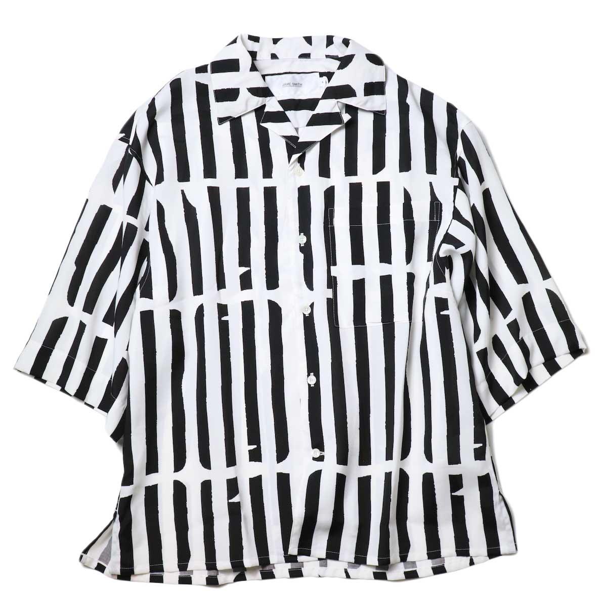 JANE SMITH / OPEN COLLAR SHIRTS S/S (White Black)