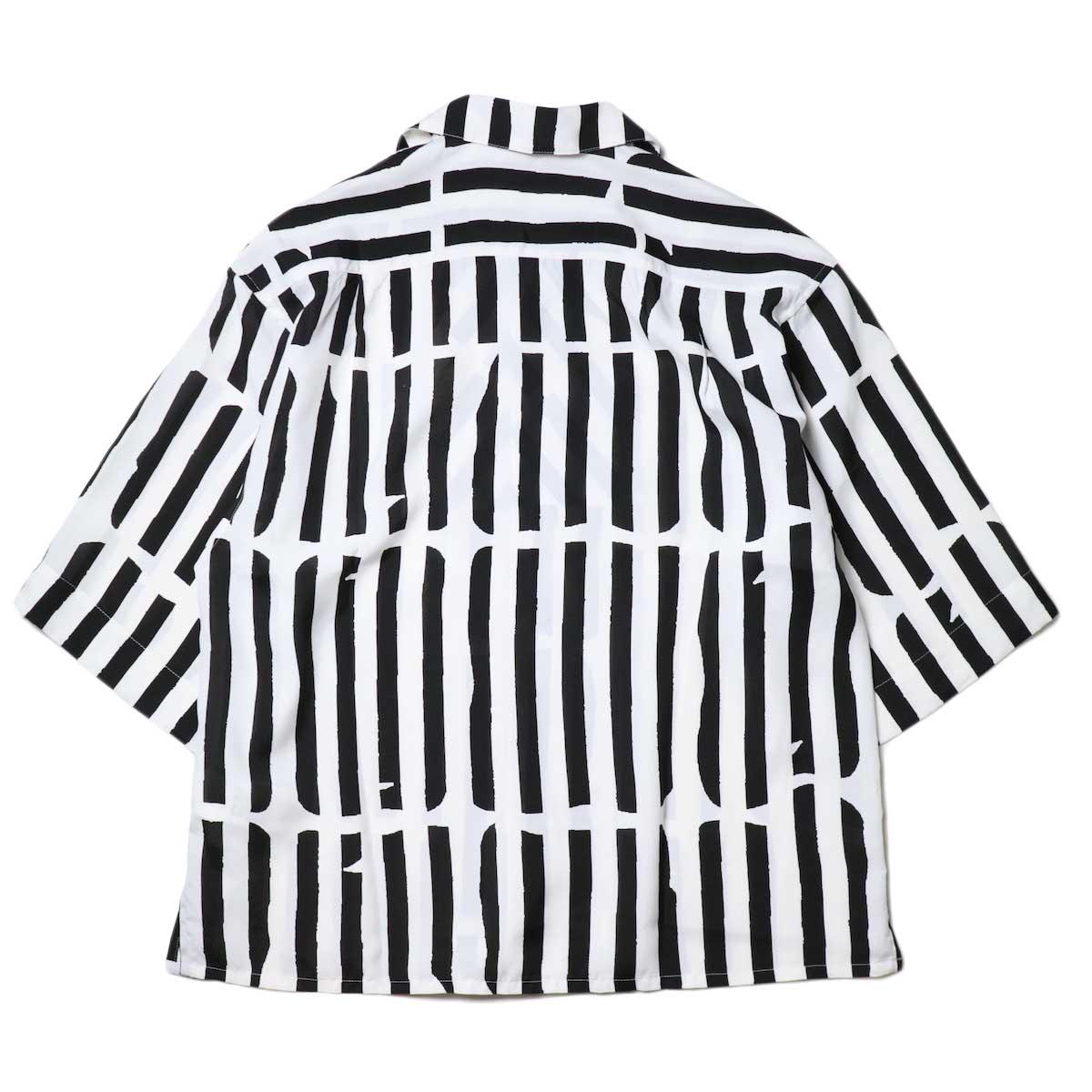 JANE SMITH / OPEN COLLAR SHIRTS S/S (White Black) 背面