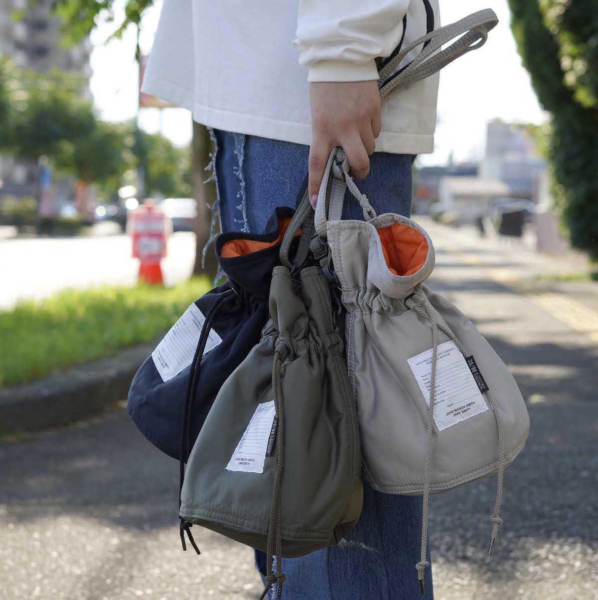 JANE SMITH / Kinchaku Shoulder Strap Bag サイズイメージ