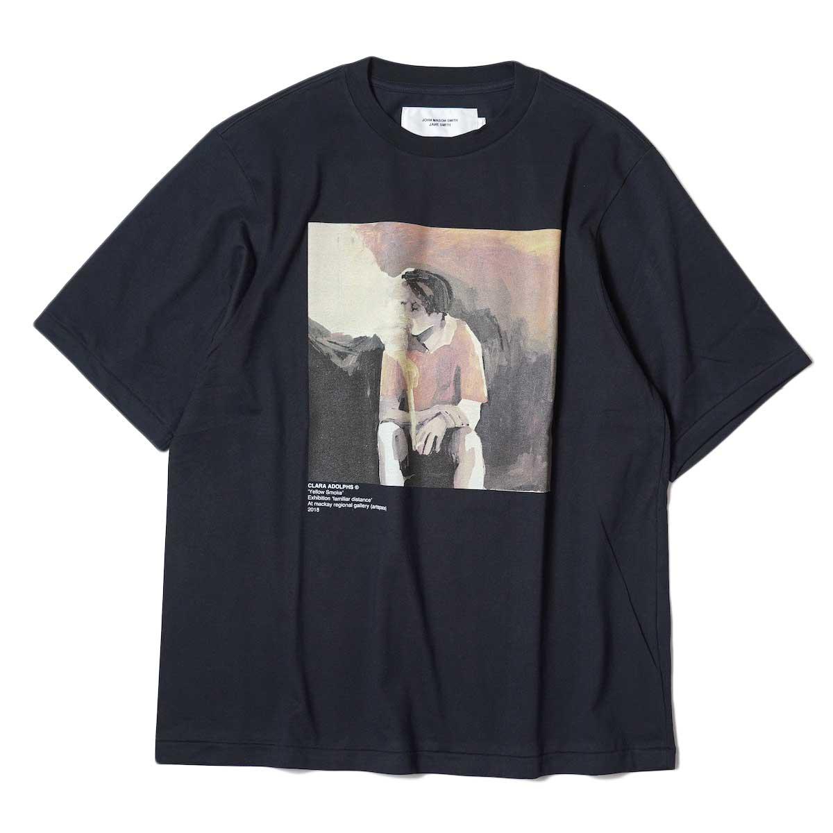 JANE SMITH / YELLOW SMOKE SHORT S/S T-Shirt (Black) 正面