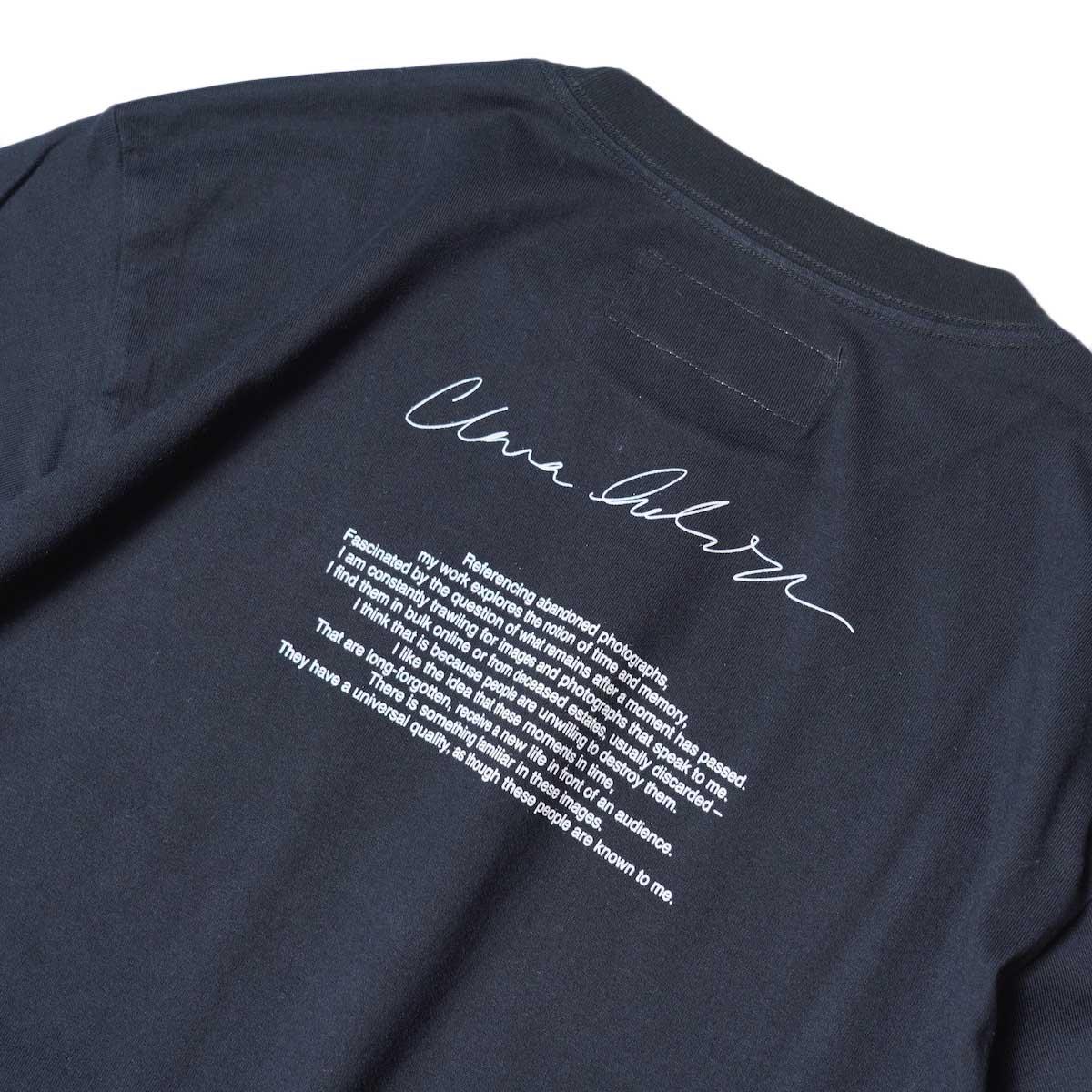 JANE SMITH / YELLOW SMOKE SHORT S/S T-Shirt (Black) 背面プリント