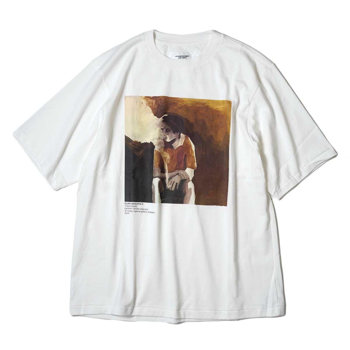 JANE SMITH / YELLOW SMOKE SHORT S/S T-Shirt (White) 正面