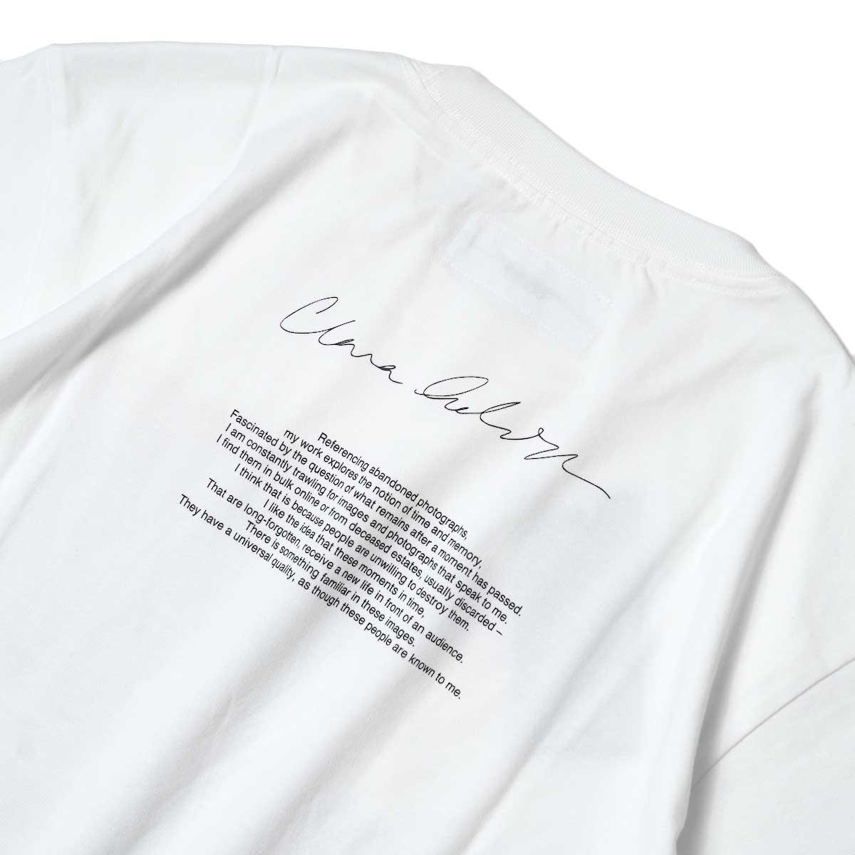 JANE SMITH / YELLOW SMOKE SHORT S/S T-Shirt (White) 背面プリント