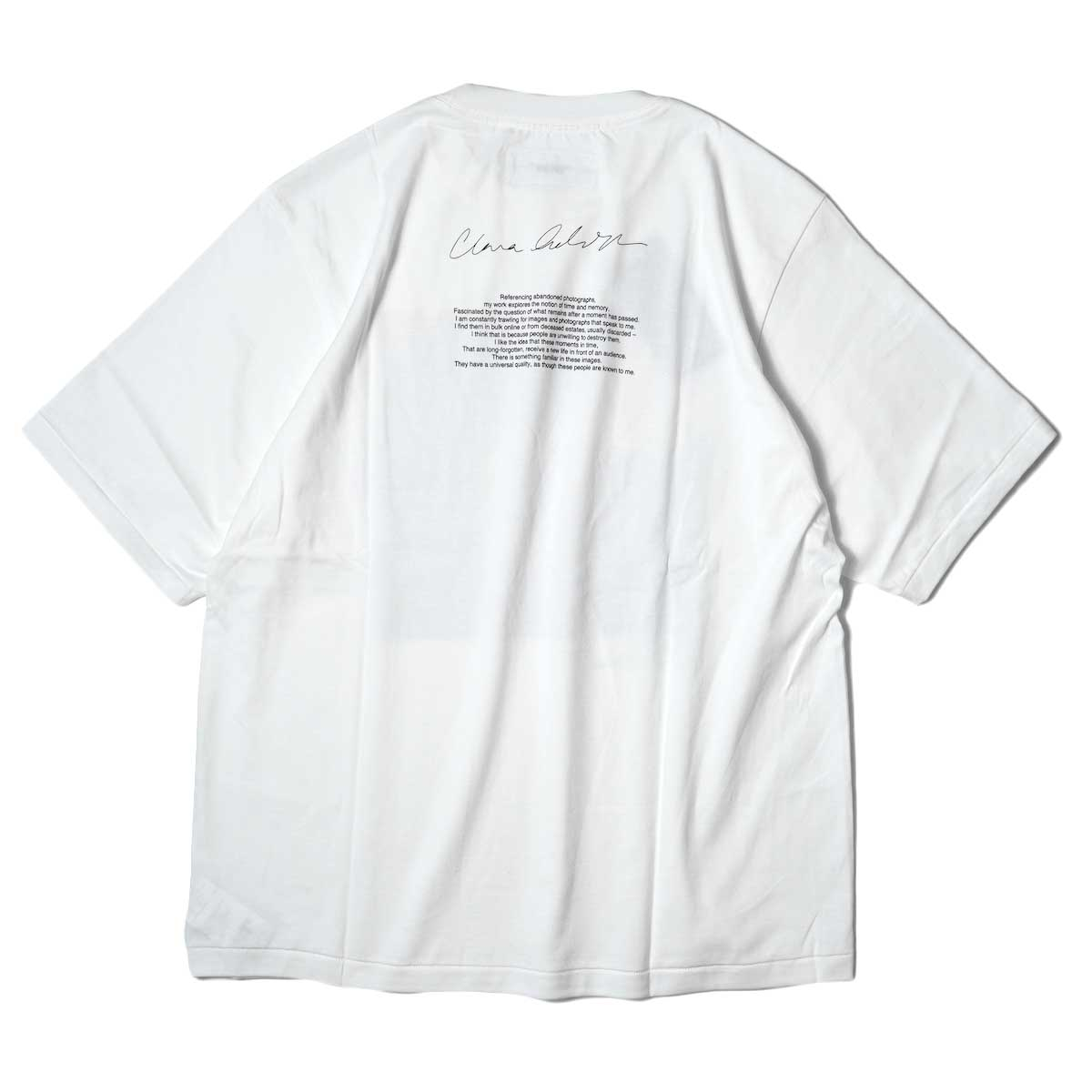 JANE SMITH / YELLOW SMOKE SHORT S/S T-Shirt (White) 背面