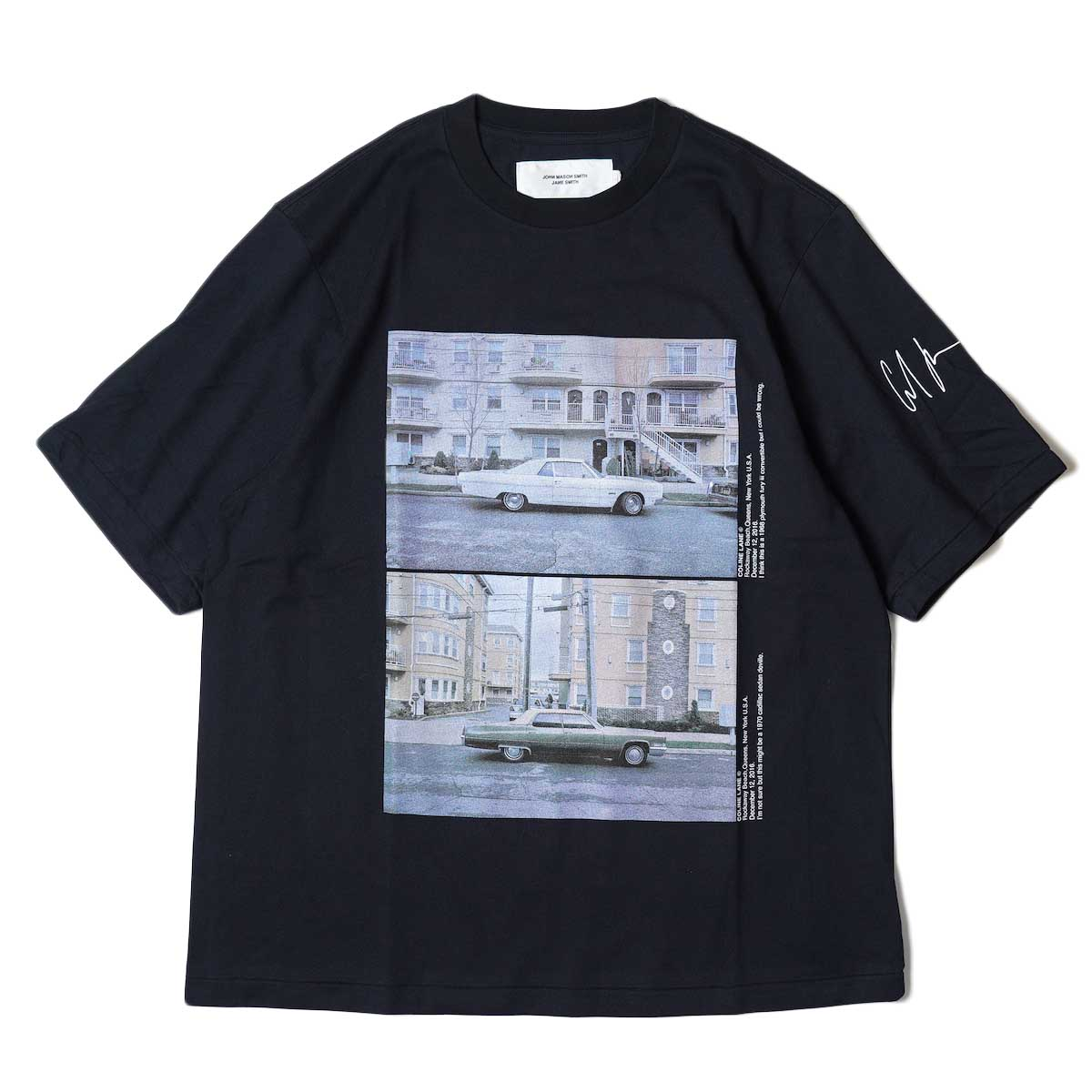 JANE SMITH / CADILLAC PLYMOUTH S/S T-Shirt (Black) 正面