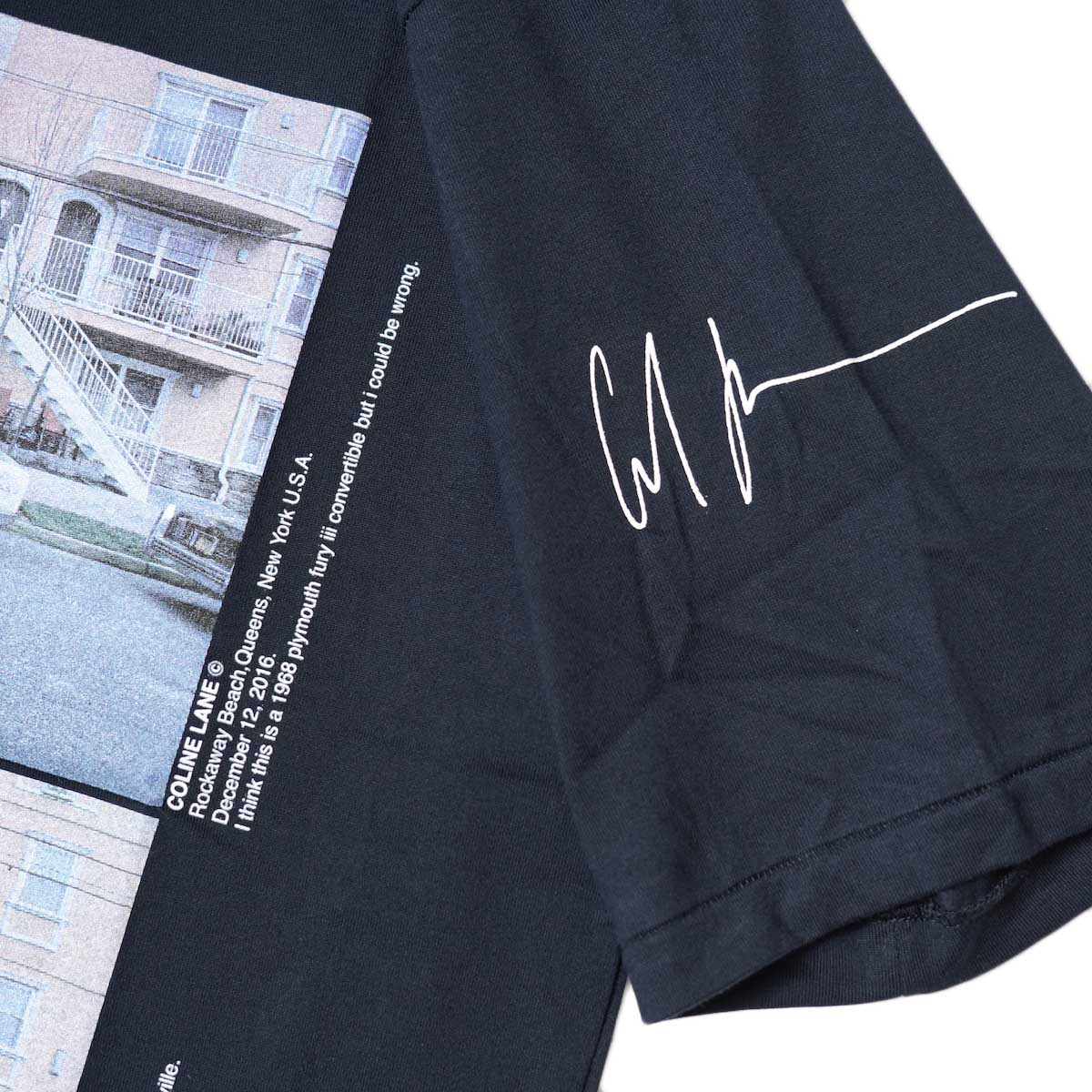 JANE SMITH / CADILLAC PLYMOUTH S/S T-Shirt (Black) 左袖プリント