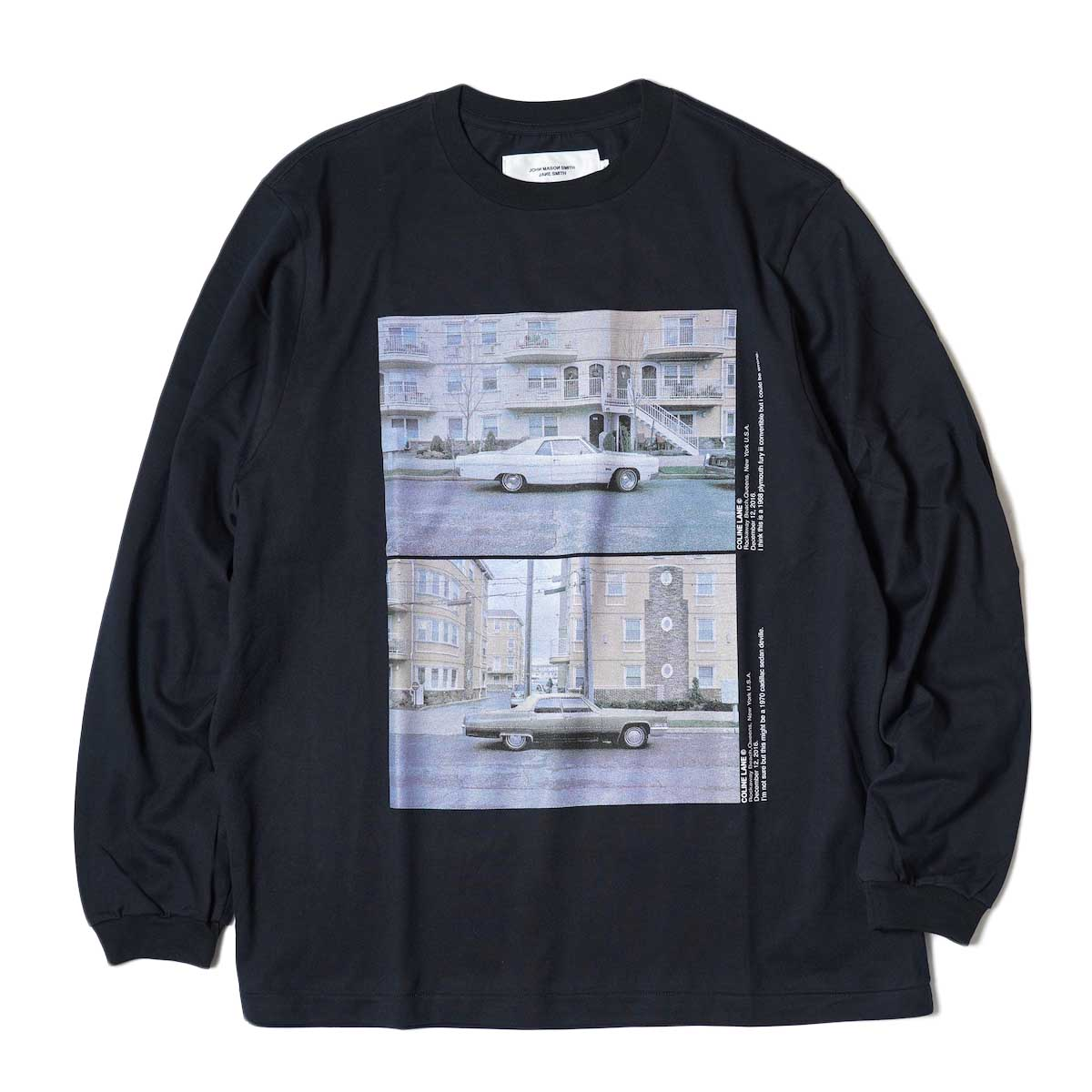 JANE SMITH / CADILLAC PLYMOUTH L/S T-Shirt (Black) 正面