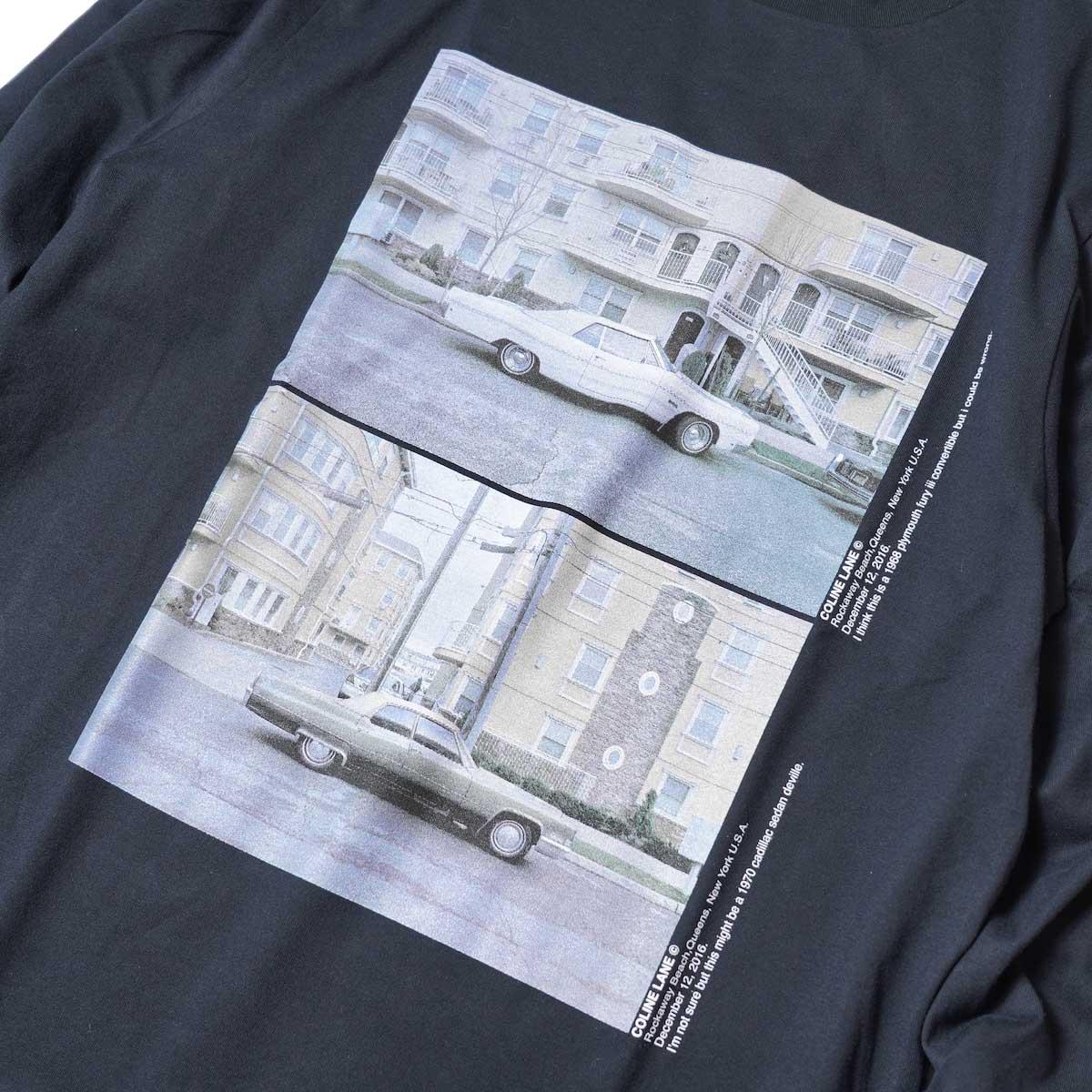 JANE SMITH / CADILLAC PLYMOUTH L/S T-Shirt (Black) フロントプリント
