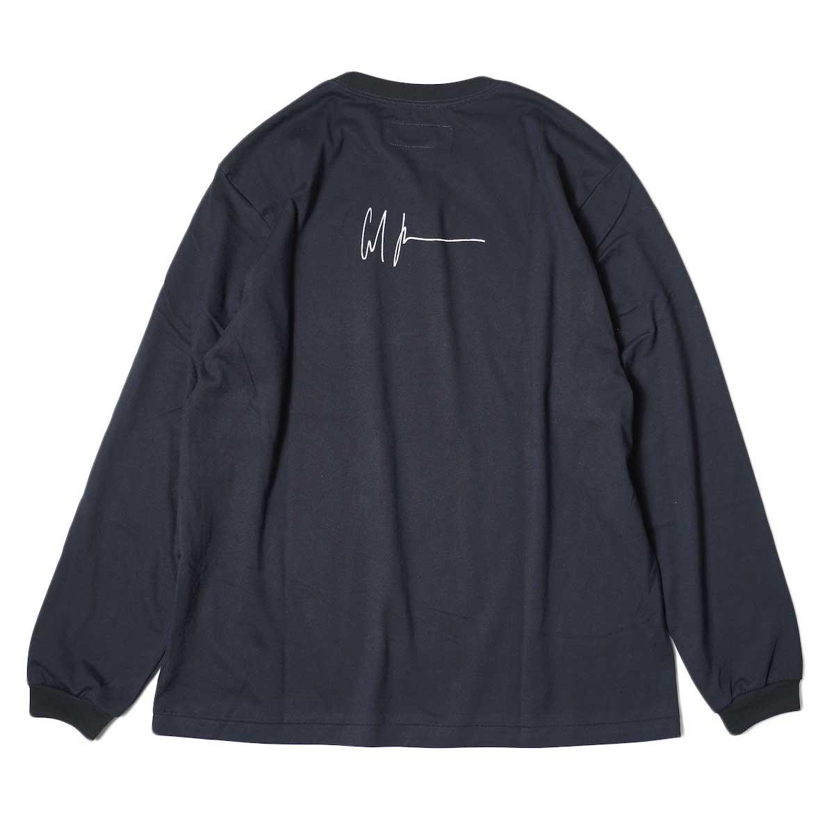 JANE SMITH / CADILLAC PLYMOUTH L/S T-Shirt (Black) 背面