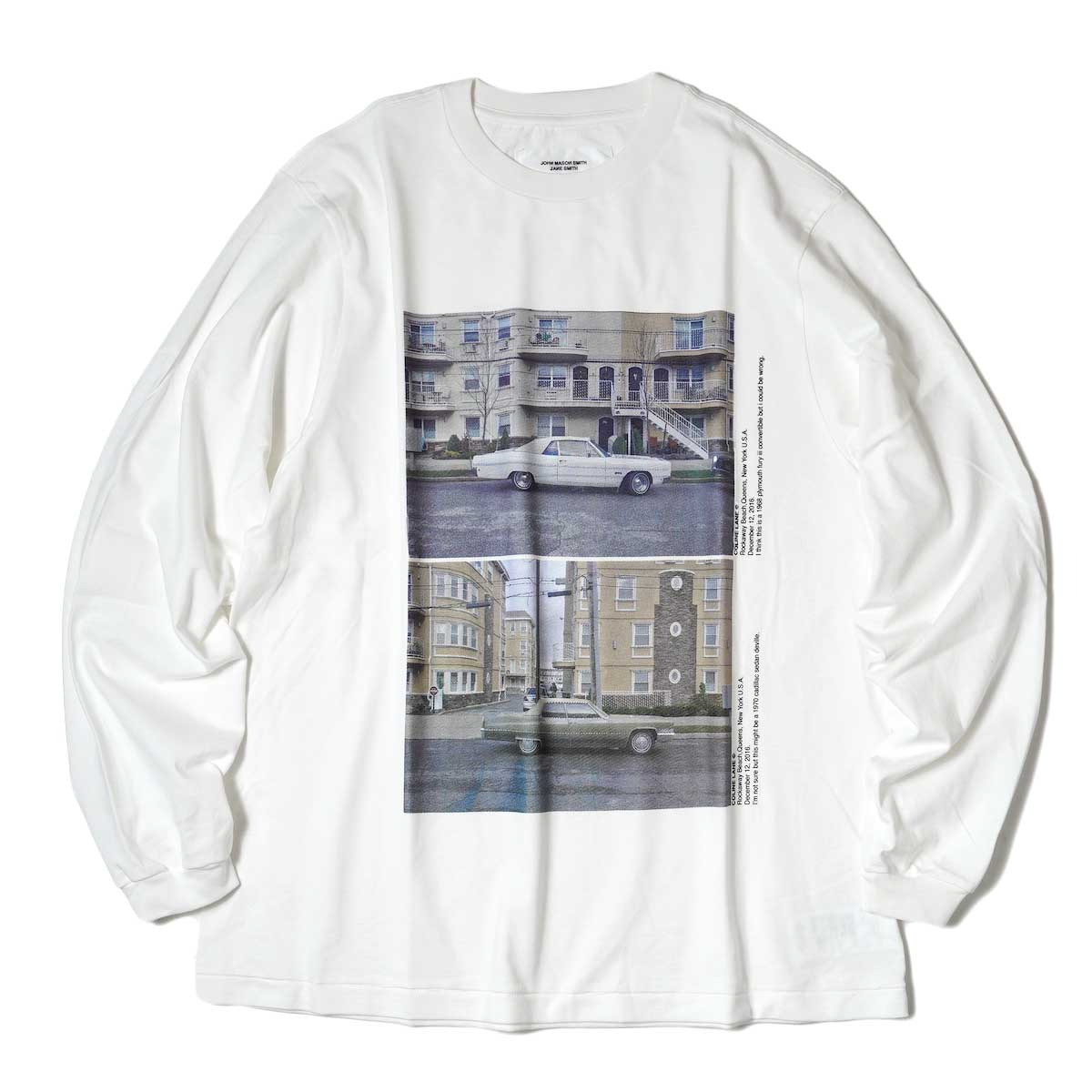 JANE SMITH / CADILLAC PLYMOUTH L/S T-Shirt (White) 正面