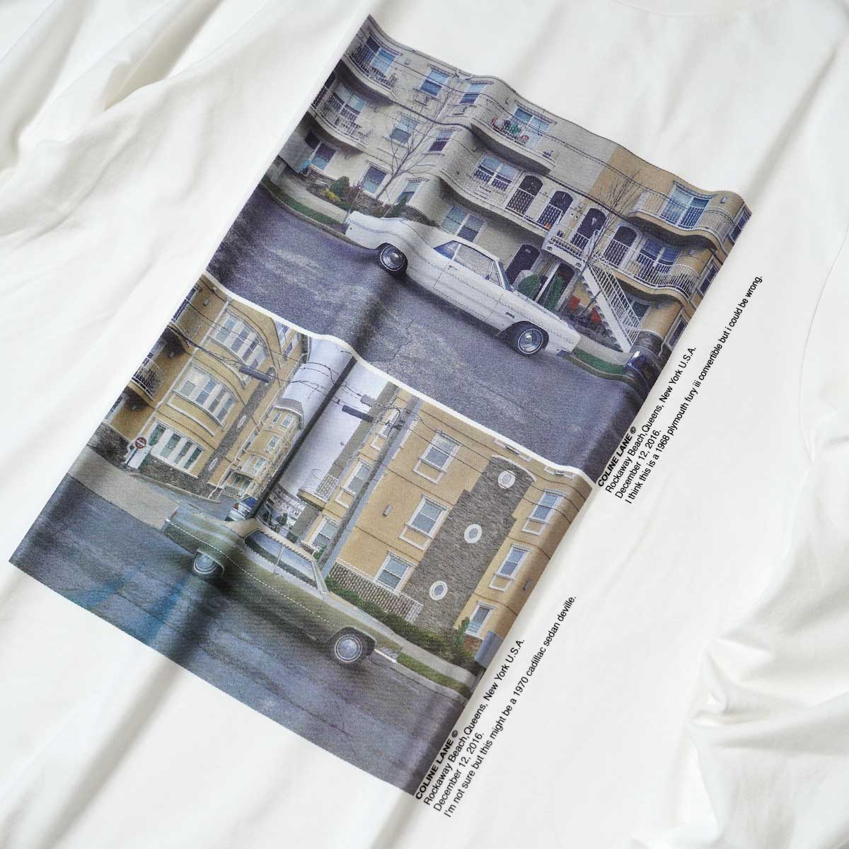 JANE SMITH / CADILLAC PLYMOUTH L/S T-Shirt (White) フロントプリント