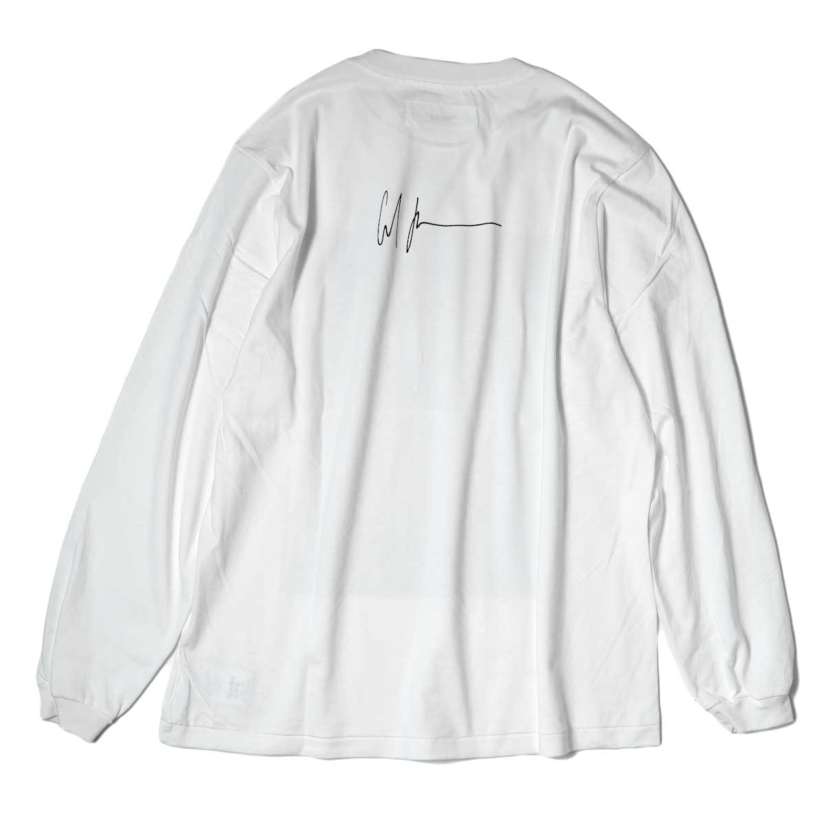JANE SMITH / CADILLAC PLYMOUTH L/S T-Shirt (White) 背面