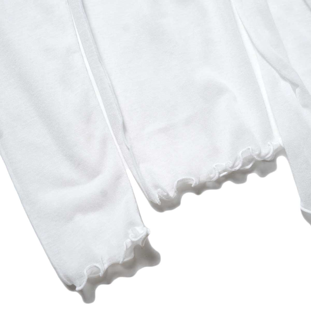 JANE SMITH / SHEAR BOW HIGHNECK PULLOVER (White) 袖・裾
