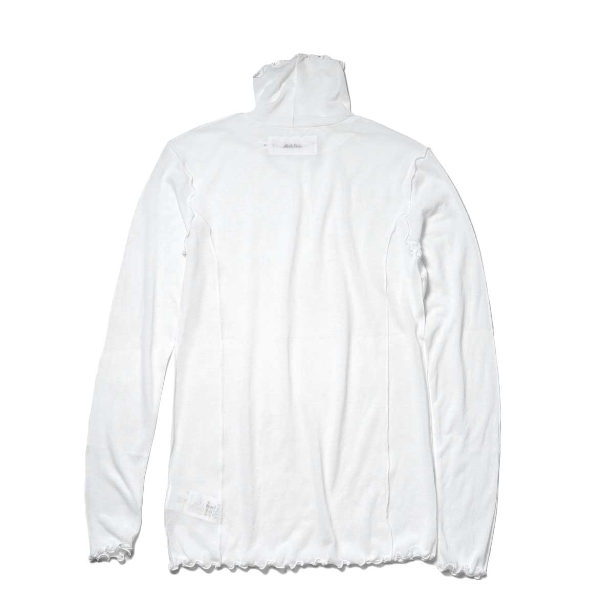 JANE SMITH / SHEAR BOW HIGHNECK PULLOVER (White) 背面