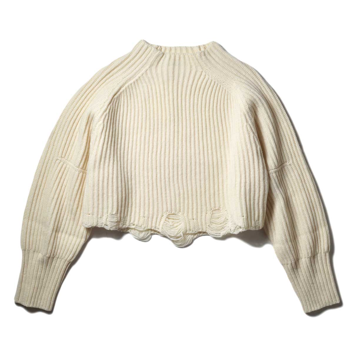 JANE SMITH / SHORT HIGH-NECK PULLOVER (Natural)