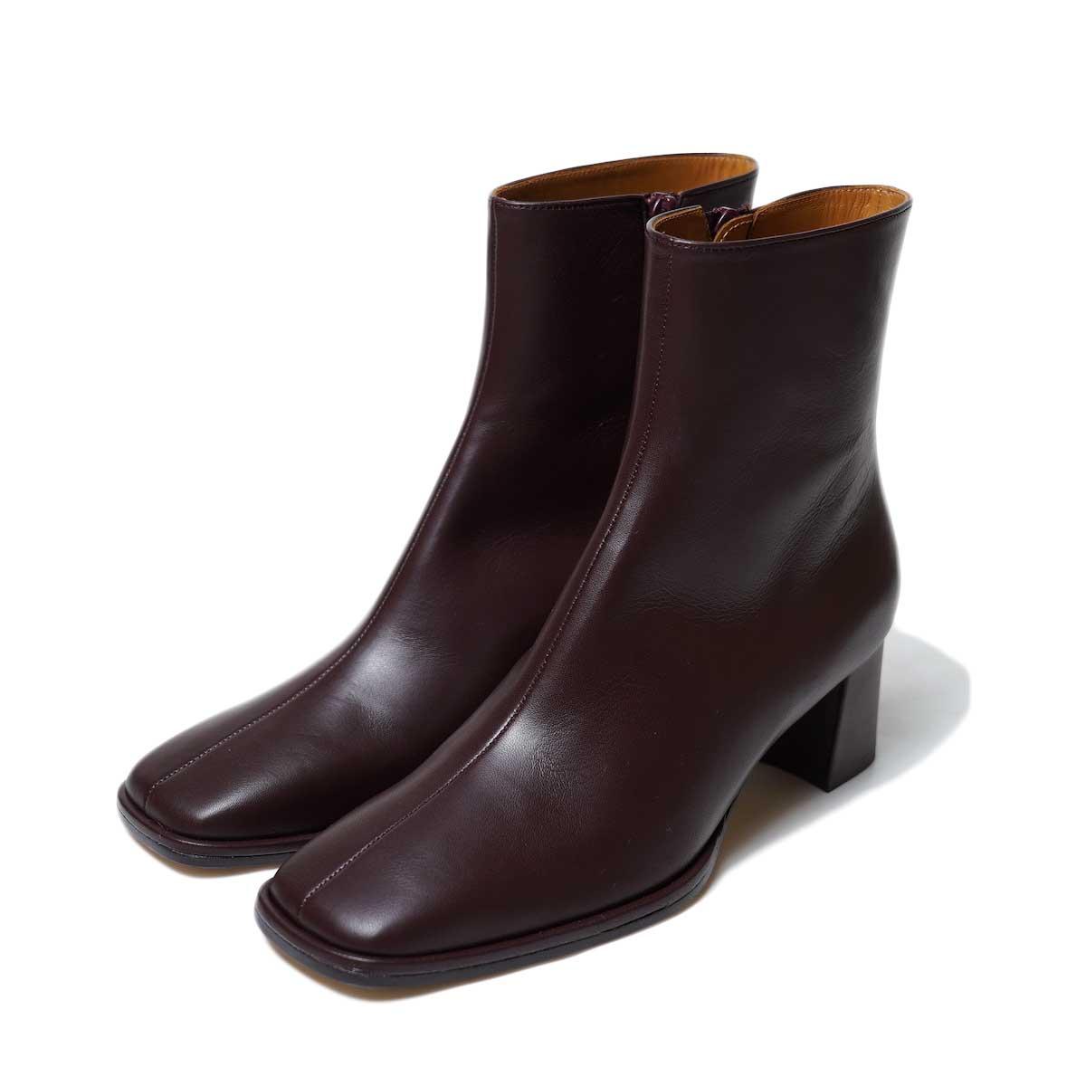 JANESMITH / SQUARE TOE SHORT BOOTS (Burgandy)