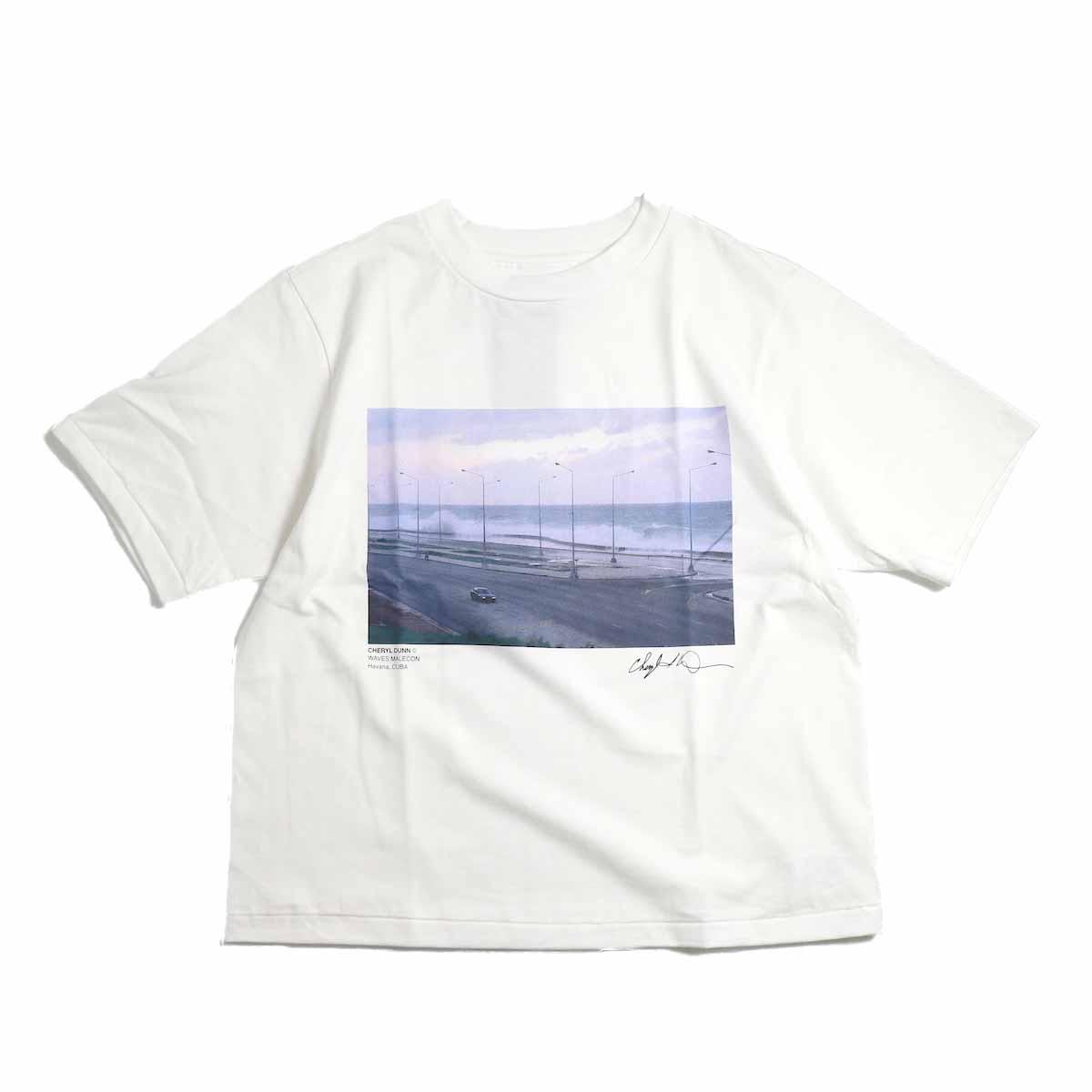 JANE SMITH / Cheryl Dunn Waves Malecon Short Sleeve T-Shirt -White