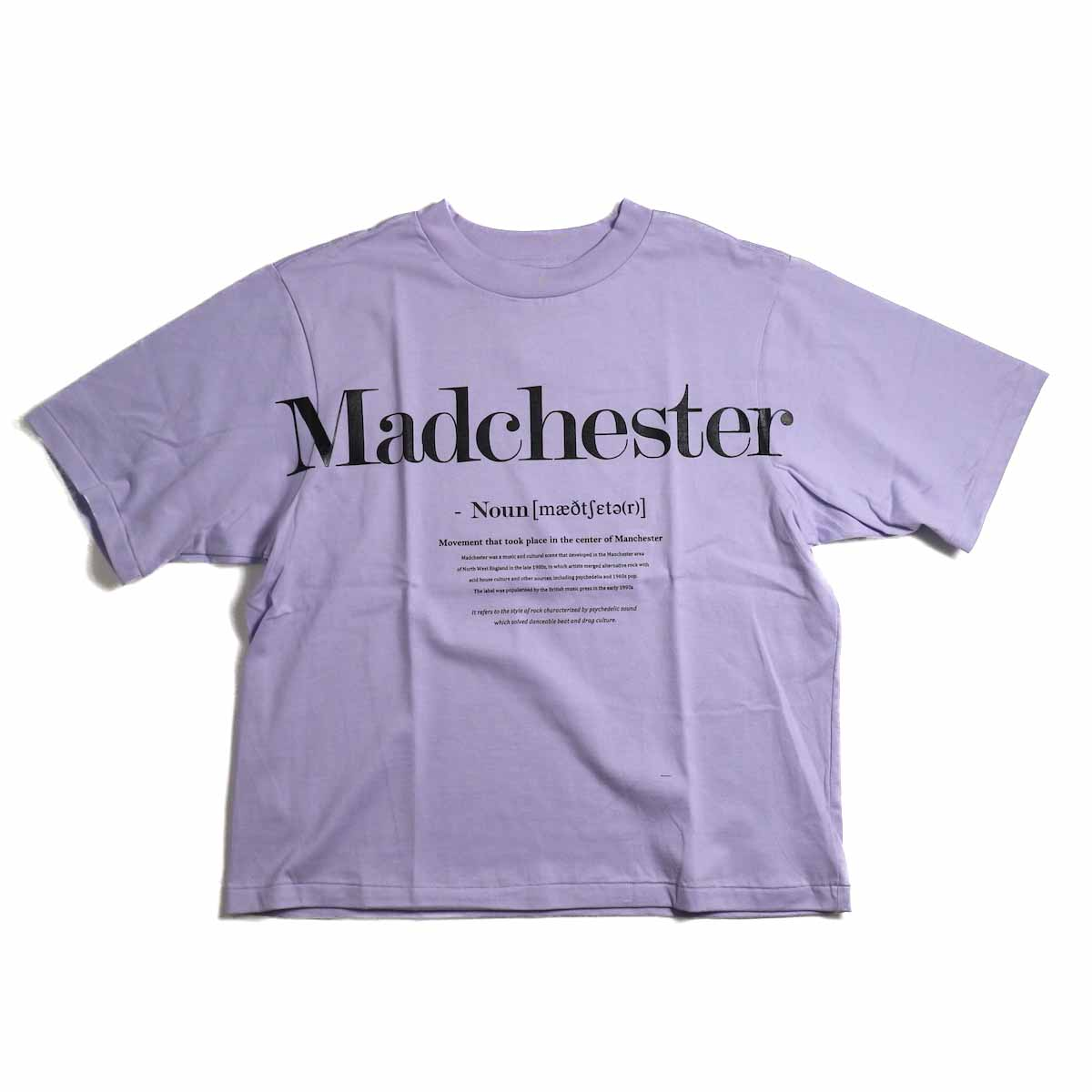 JANE SMITH / Madchester Short Sleeve T-Shirt -Purple