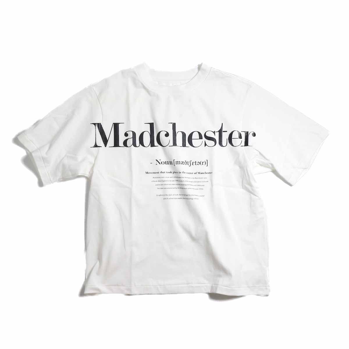 JANE SMITH / Madchester Short Sleeve T-Shirt -White
