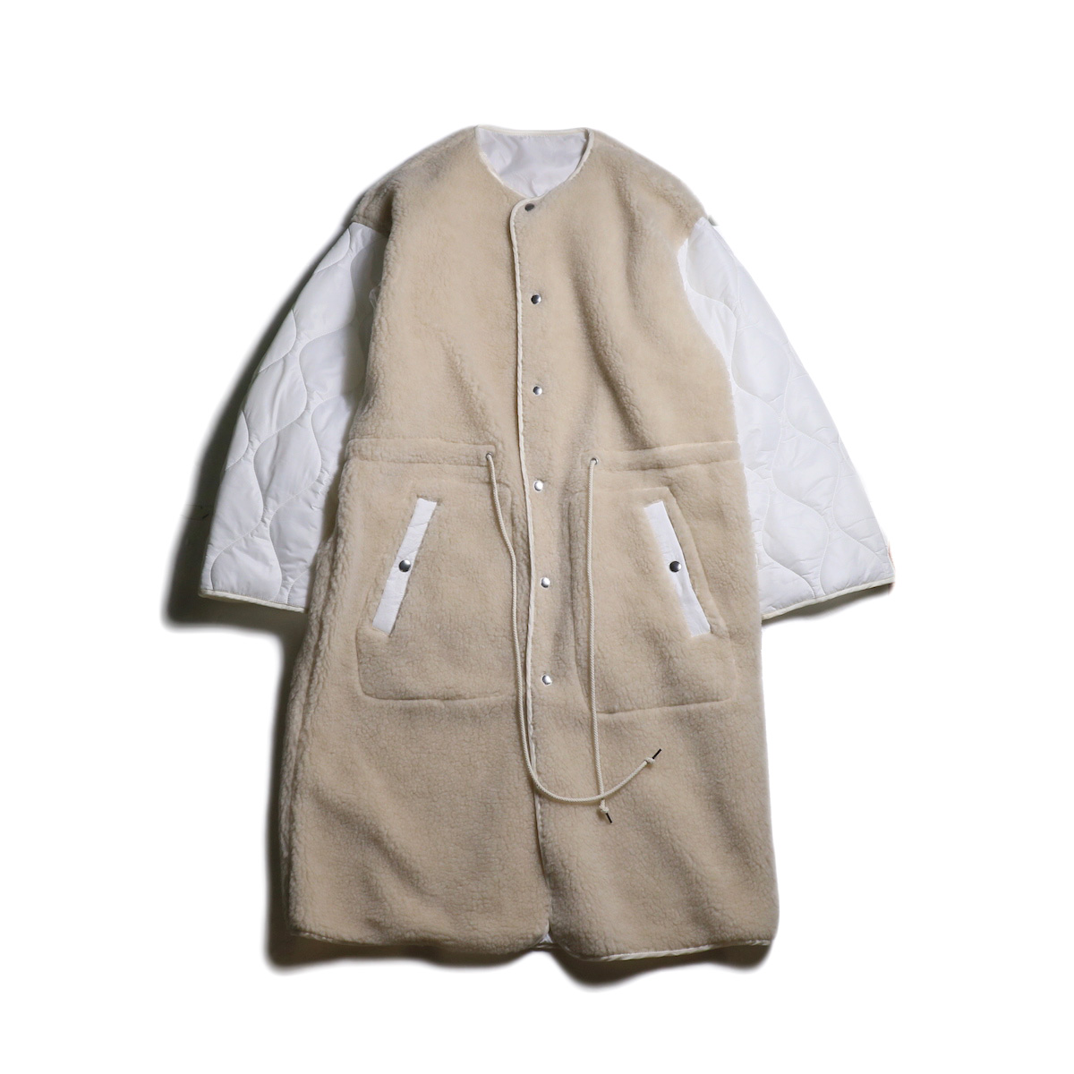 JANE SMITH / BOA QUILT COAT (White)