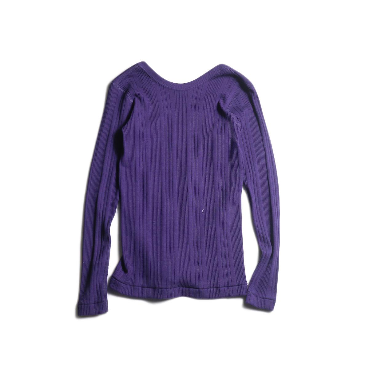 JANE SMITH / BACK OPEN PULLOVER (Purple)