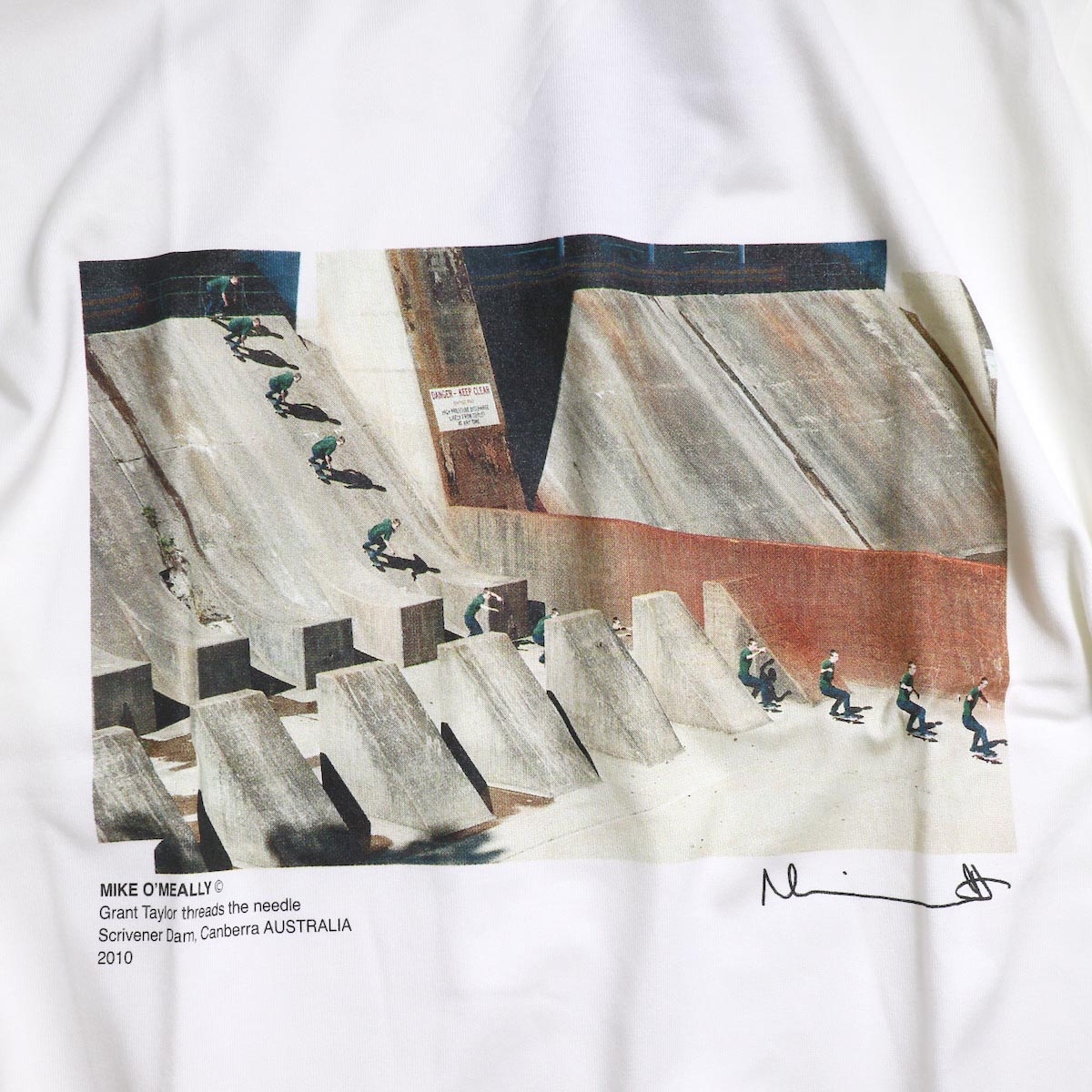 JANE SMITH / MIKE O'MEALLY THREAD THE NEEDLE L/S -White プリント