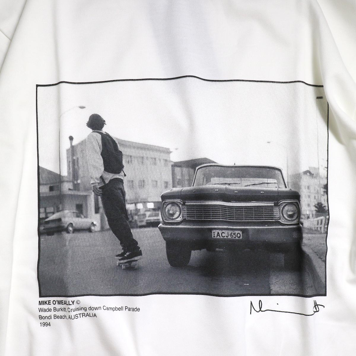 JANE SMITH / MIKE O'MEALLY CRUSING DOWN CAMBELL PARADE L/S -White プリント