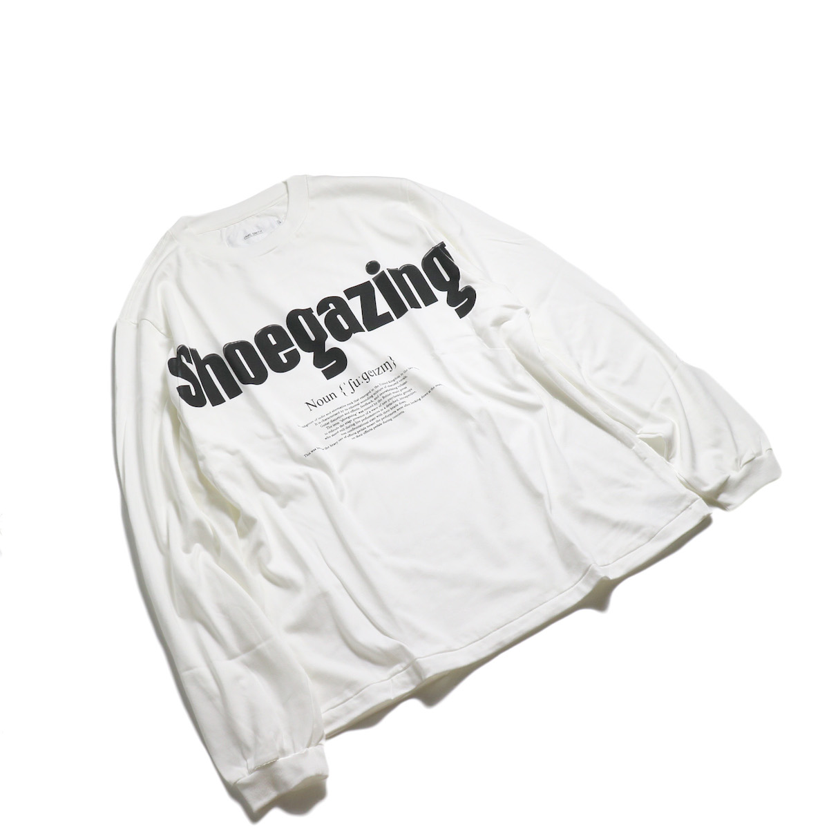 JANE SMITH / SHOEGAZING L/S T-SHIRT -White 全体
