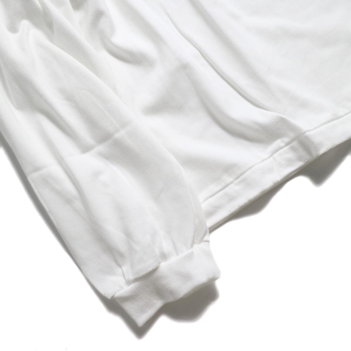 JANE SMITH / SHOEGAZING L/S T-SHIRT -White 袖