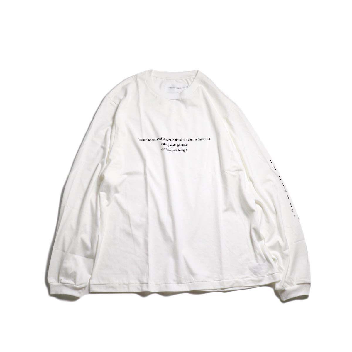 JANE SMITH / MORESE COD L/S T-SHIRT -White 正面