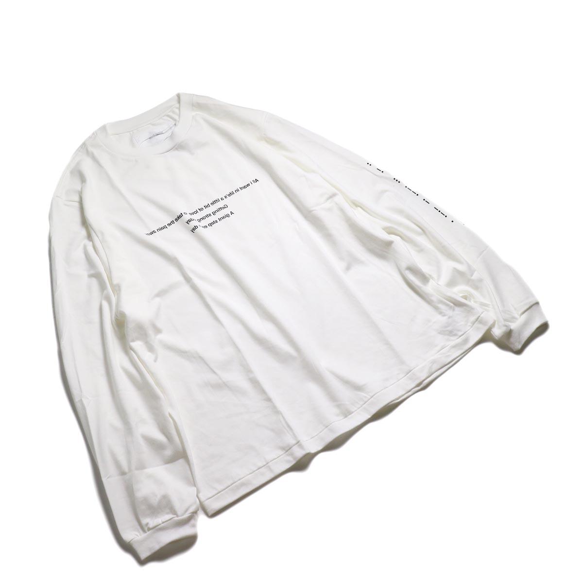 JANE SMITH / MORESE COD L/S T-SHIRT -White 全体