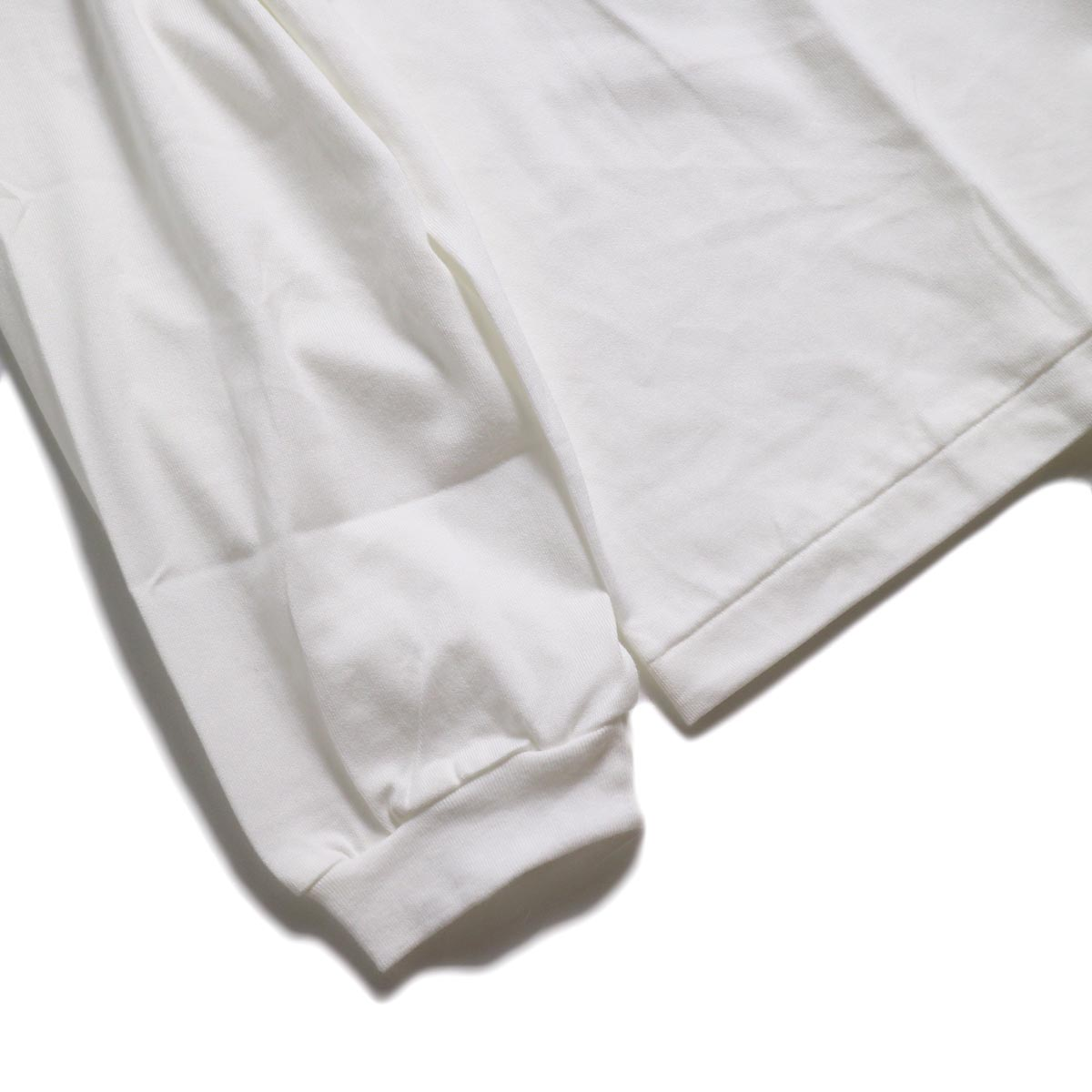 JANE SMITH / MORESE COD L/S T-SHIRT -White 袖