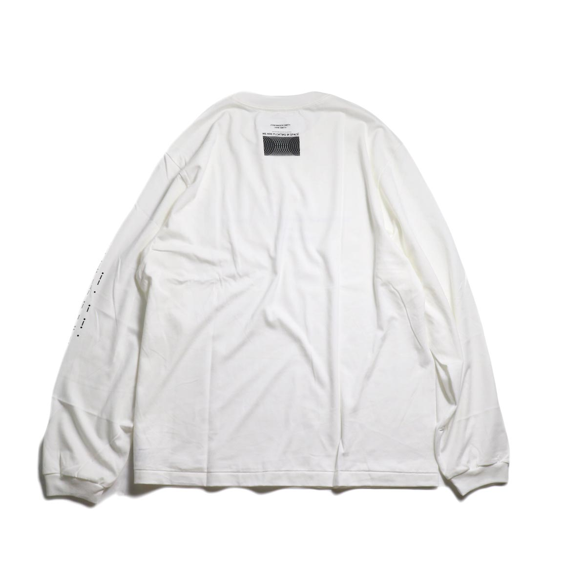 JANE SMITH / MORESE COD L/S T-SHIRT -White 背面