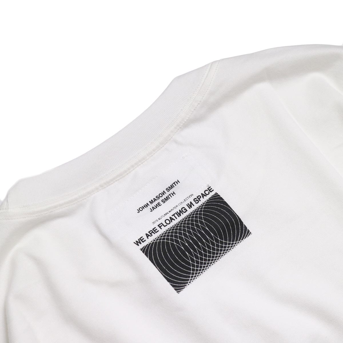 JANE SMITH / MORESE COD L/S T-SHIRT -White 背面プリント