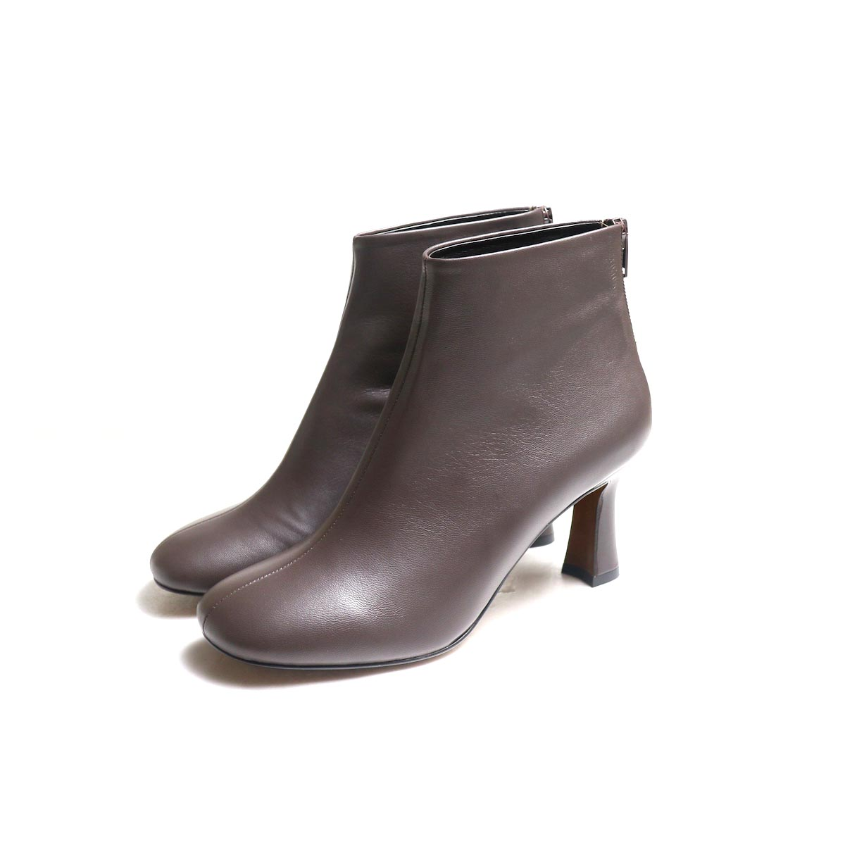 JANE SMITH / SHORT BOOTS -Brown