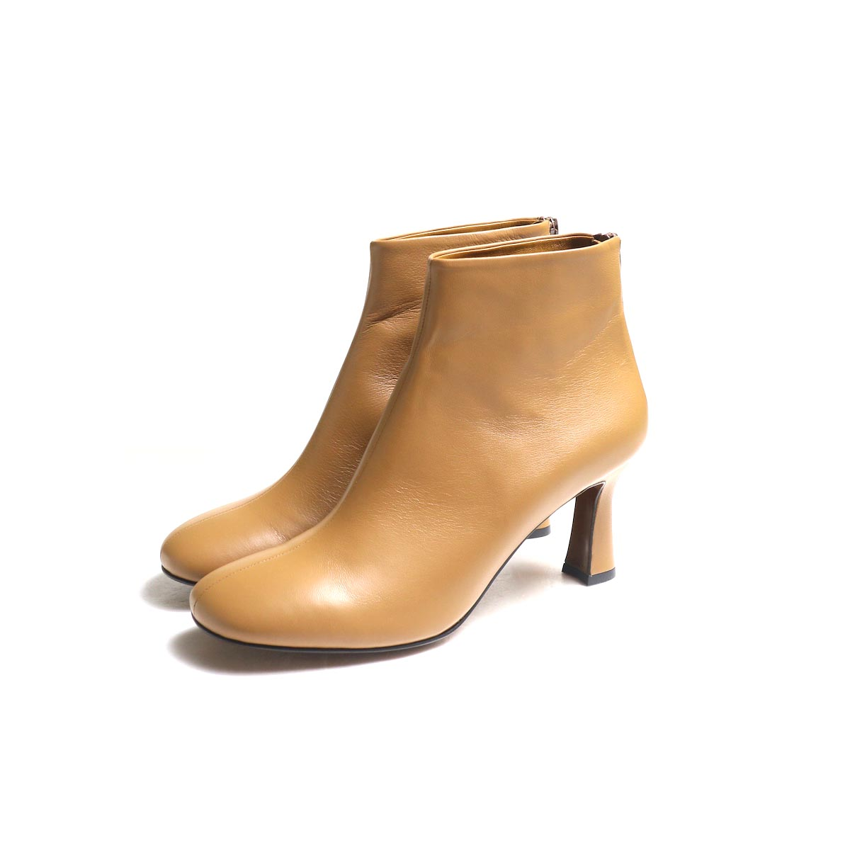 JANE SMITH / SHORT BOOTS -Camel