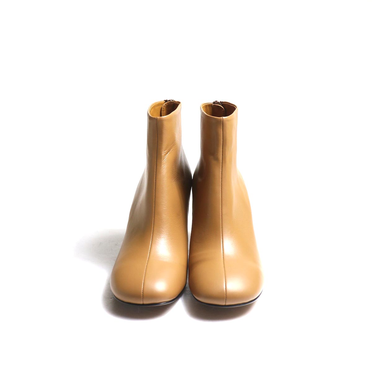 JANE SMITH / SHORT BOOTS -Camel 正面