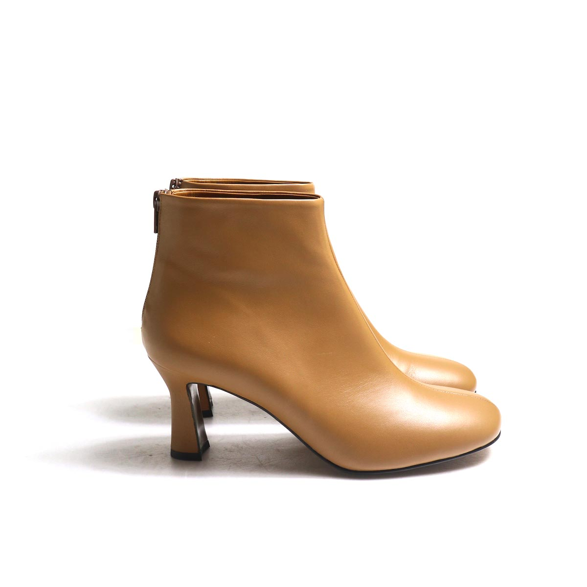 JANE SMITH / SHORT BOOTS -Camel サイド