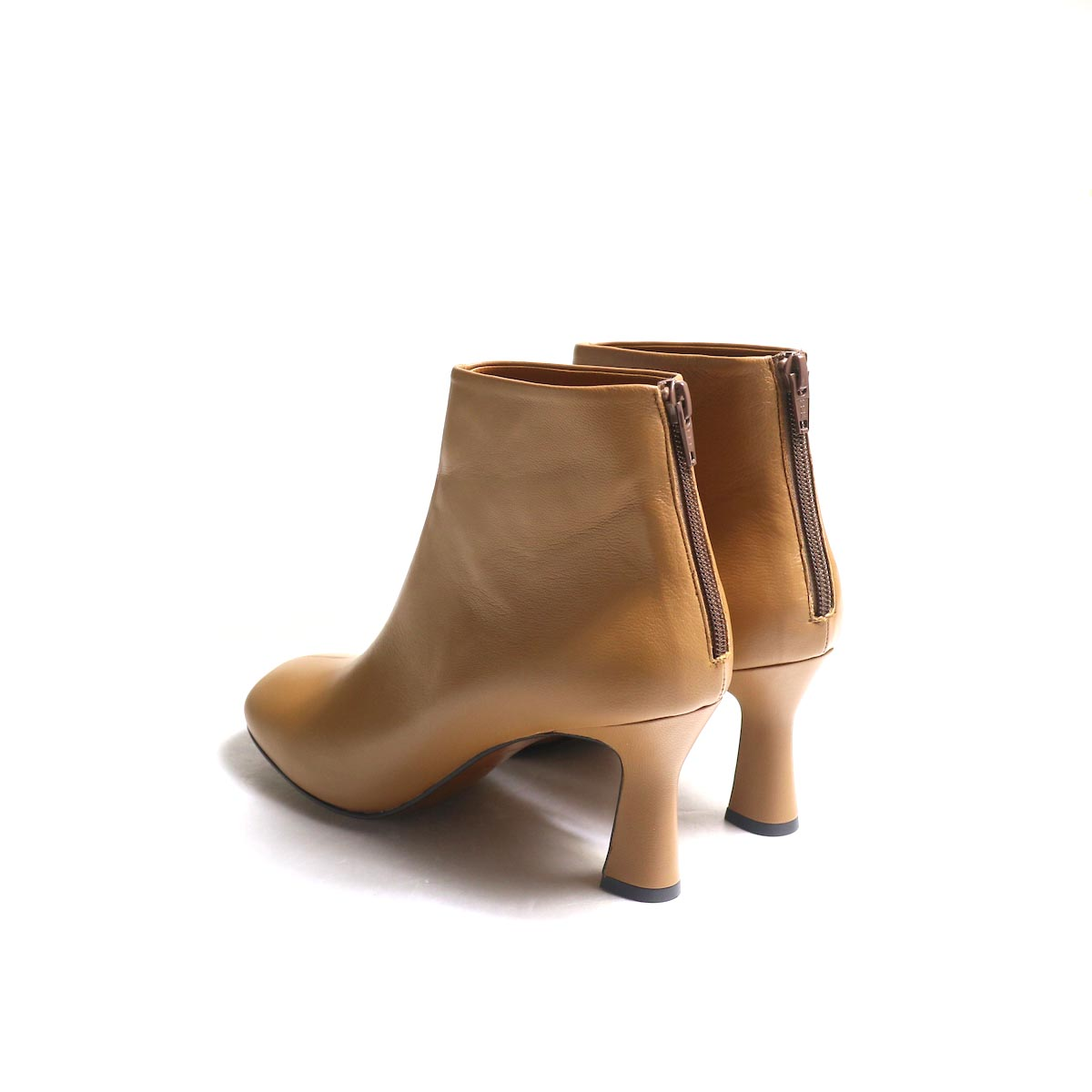 JANE SMITH / SHORT BOOTS -Camel 背面