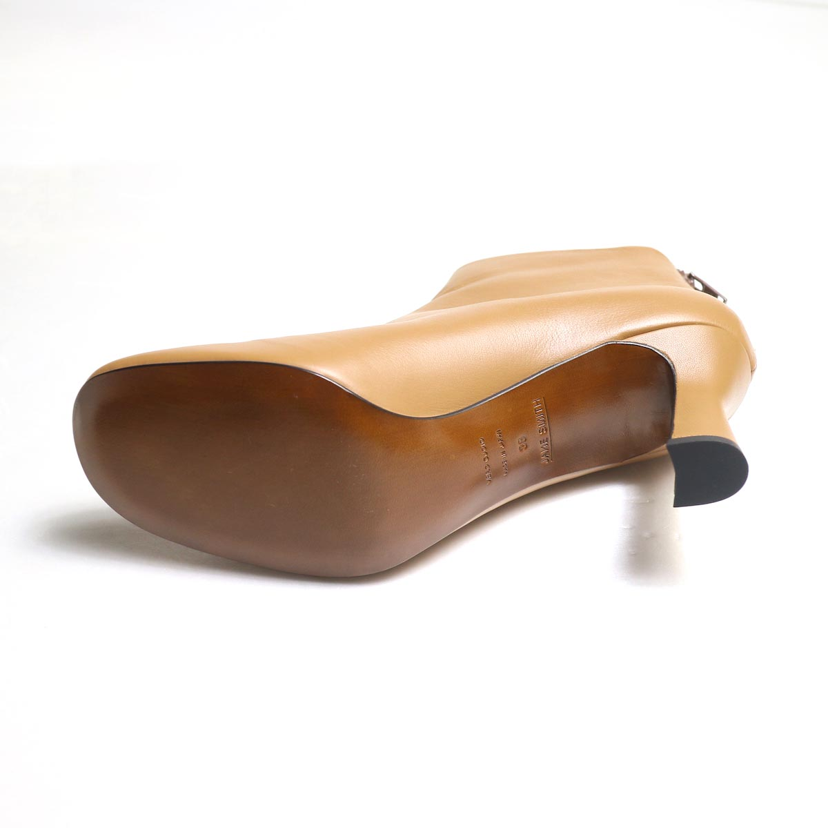 JANE SMITH / SHORT BOOTS -Camel ソール