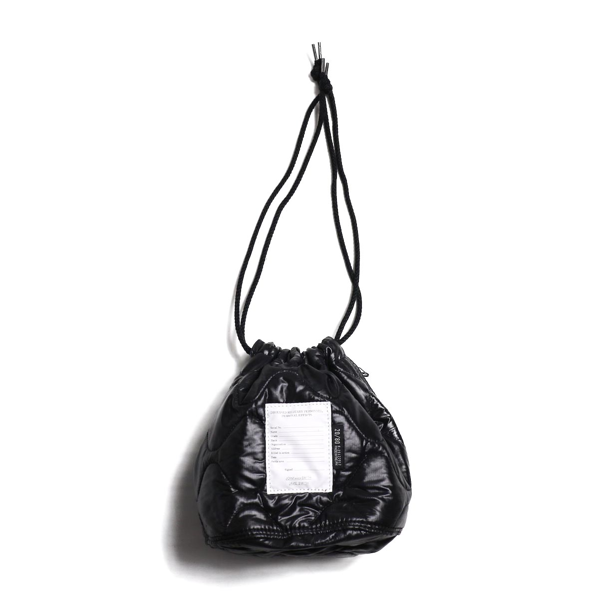 JANE SMITH / KINCHAKU BAG-BLACK