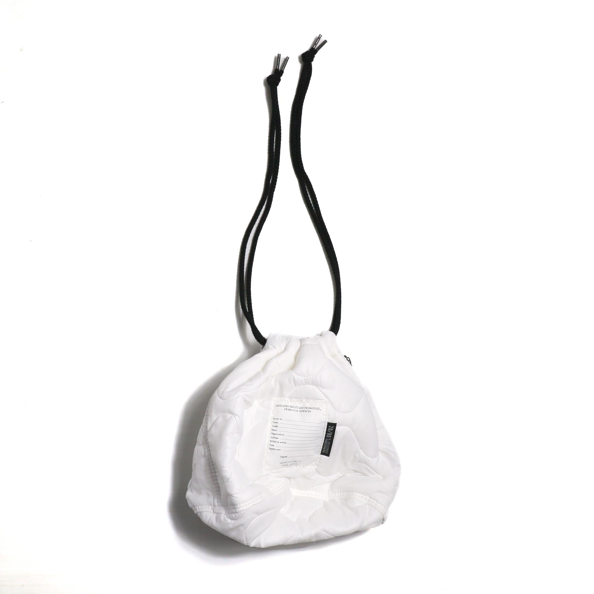 JANE SMITH / KINCHAKU BAG-WHITE